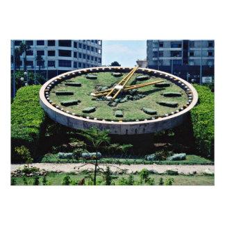 The famous Flowers Clock, Alexandria, Egypt  flowe Custom Invitations