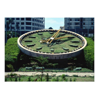 The famous Flowers Clock, Alexandria, Egypt Personalized Invite