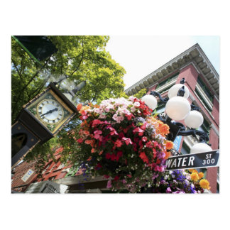 The famous Steam Clock in Gastown - Vancouver, Postcard