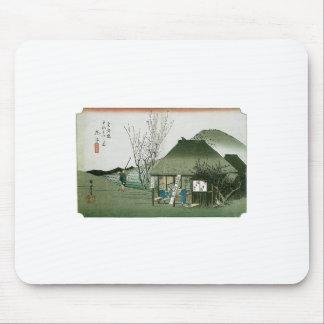 The Famous Teahouse at Mariko Japan Mousepad