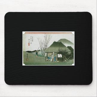 The Famous Teahouse at Mariko Japan Mousepads