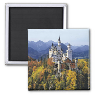 The fanciful Neuschwanstein is one of three 2 Inch Square Magnet