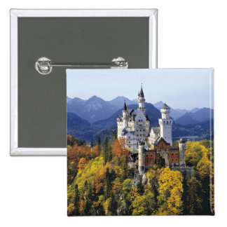 The fanciful Neuschwanstein is one of three 2 Inch Square Button