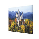 The fanciful Neuschwanstein is one of three Stretched Canvas Prints