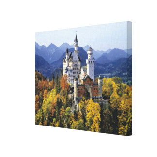 The fanciful Neuschwanstein is one of three Canvas Print