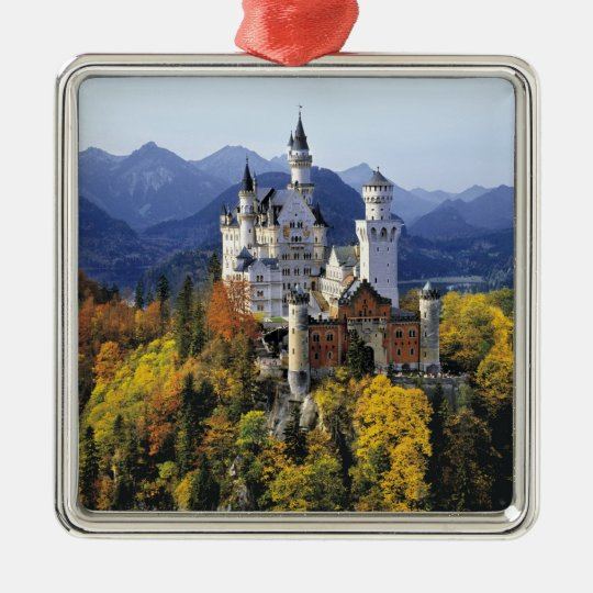 The fanciful Neuschwanstein is one of three Metal Ornament