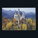 """The fanciful Neuschwanstein is one of three Placemat<br><div class=""""desc"""">The fanciful Neuschwanstein is one of three castles built by King Ludwig II in Bavaria,  Germany 