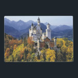 "The fanciful Neuschwanstein is one of three Placemat<br><div class=""desc"">The fanciful Neuschwanstein is one of three castles built by King Ludwig II in Bavaria,  Germany 