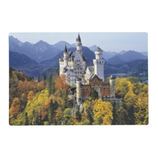 The Fanciful Neuschwanstein Is One Of Three Placemat at Zazzle