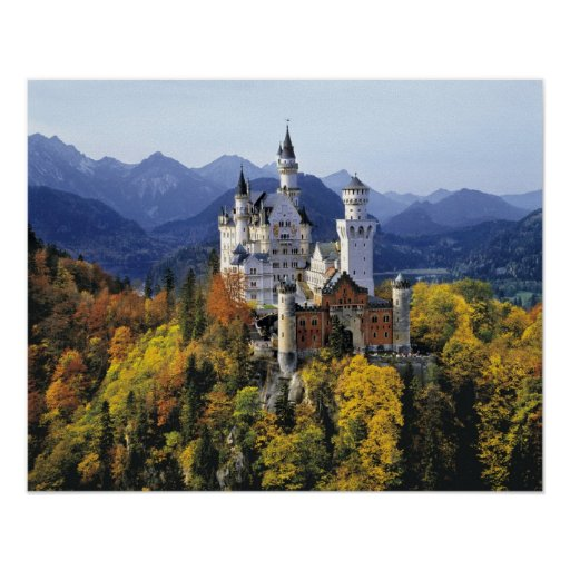 The fanciful Neuschwanstein is one of three Print