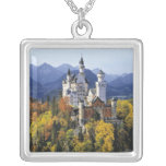 The fanciful Neuschwanstein is one of three Square Pendant Necklace
