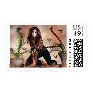 The Fanciful Tigress Postage