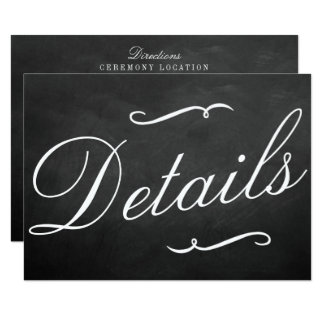 The Fancy Chalkboard Wedding Collection Details Card