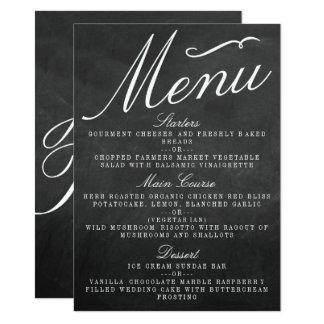 The Fancy Chalkboard Wedding Collection Menu Cards