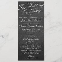 The Fancy Chalkboard Wedding Collection Programs