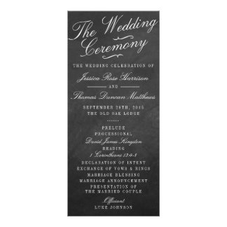 The Fancy Chalkboard Wedding Collection Programs Rack Cards