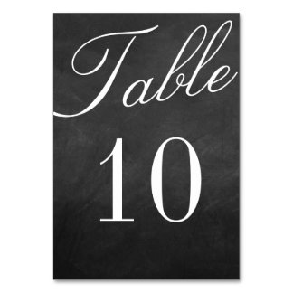 The Fancy Chalkboard Wedding Collection Table Card