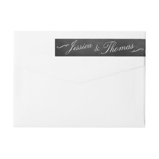 The Fancy Chalkboard Wedding Collection Wrap Around Label
