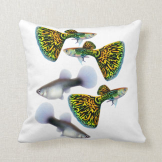 The Fancy Fantail Guppy Pillow