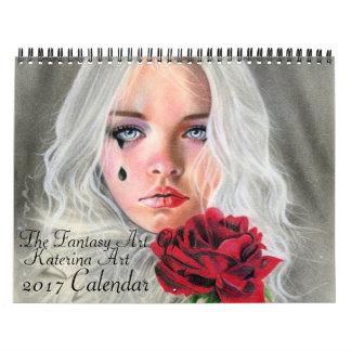 The Fantasy Art of Katerina Art 2017 wall calendar