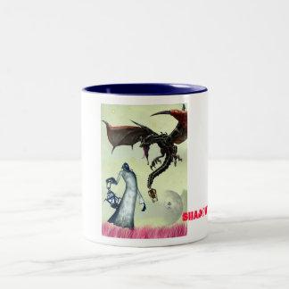 the fantasy battel of monster, shadow_tek art's Two-Tone coffee mug