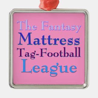 The Fantasy Mattress Tag-Football League Ornaments
