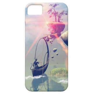 The fantasy world with flying rocks iPhone 5 covers
