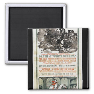 The Farewell Benefit of Mr. William Cooke 2 Inch Square Magnet