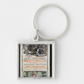 The Farewell Benefit of Mr. William Cooke Silver-Colored Square Keychain