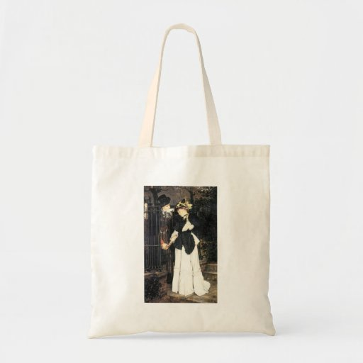 The farewell by James Tissot Canvas Bags