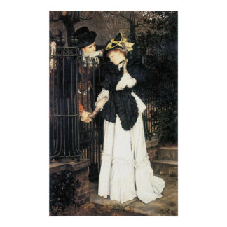 The farewell by James Tissot Poster