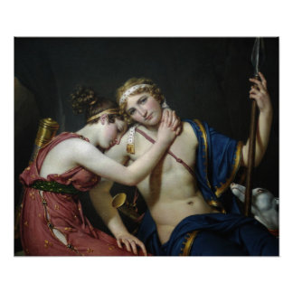 The Farewell Of Telemachus And Eucharis Poster