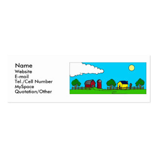 The Farm Double-Sided Mini Business Cards (Pack Of 20)
