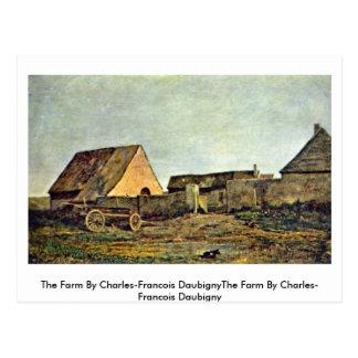 The Farm By Charles-Francois Daubigny Postcard