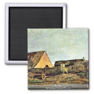 The Farm By Daubigny Charles-François Refrigerator Magnets