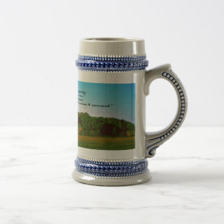 The Farmer and Religion Beer Stein