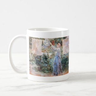 The farmer hanging laundry by Berthe Morisot Coffee Mug