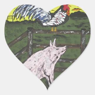 The Farmers Clock Heart Sticker