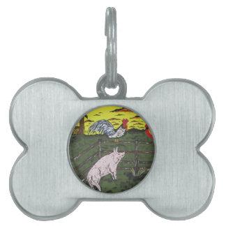 The Farmers Clock Pet ID Tag