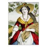 The Farmer's Daughter - Vintage Fine Art Card