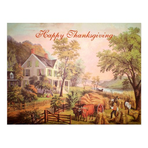 The Farmer's Harvest Thanksgiving Postcard