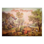 The Farmer's Home - Harvest Thanksgiving Card