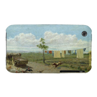 The Farmyard (oil on canvas) iPhone 3 Case-Mate Cases