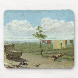 The Farmyard (oil on canvas) Mouse Pad