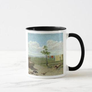 The Farmyard (oil on canvas) Mug