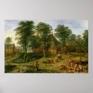 The Farmyard Poster