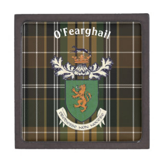 The Farrell Clan of Ireland coat of arms & tartan Gift Box