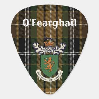 The Farrell Clan of Ireland coat of arms & tartan Guitar Pick