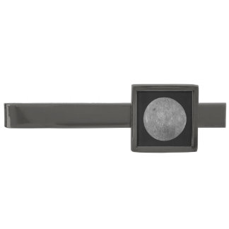 The Farside Of The Moon Gunmetal Finish Tie Clip