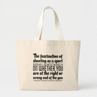 The fascination of shooting as a sport depends large tote bag